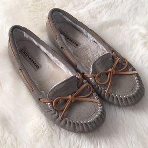 Lucky Brand Suede slipper moccasin